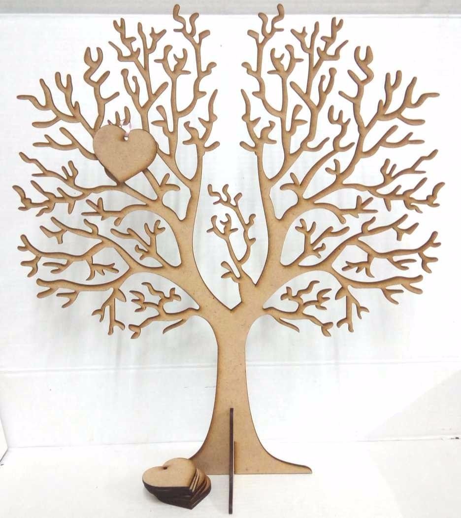 Arbol De La Vida Cuelga Corazones Casamiento 40cm Fibrofaci 200