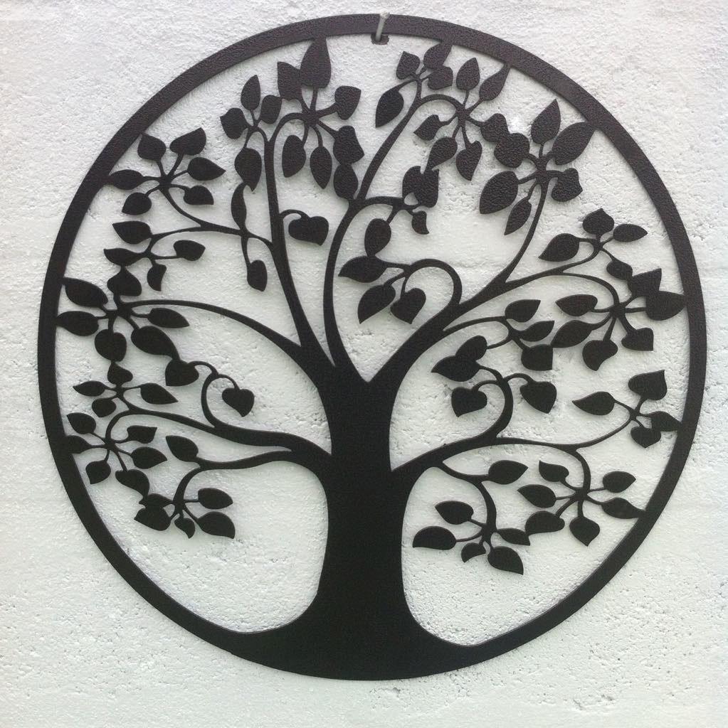 68f940231fcc arbol de la vida de metal decoración mural para pared 60cm. Cargando zoom.