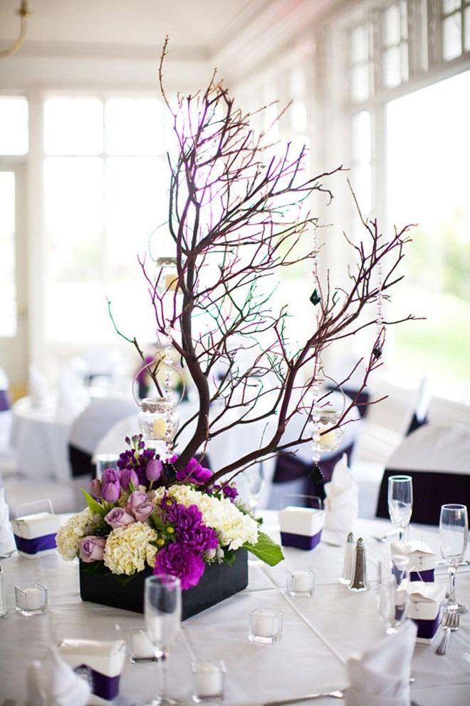 Arbol de los deseos en lugar de libro de firmas para boda - Ramas de arbol para decoracion ...
