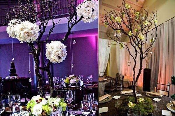 Arbol de los deseos en lugar de libro de firmas para boda - Plantas secas decoracion ...