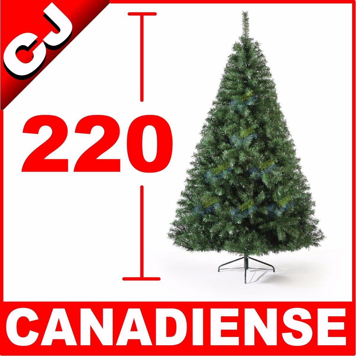 Arbol de navidad 220 verde canadiense pino artificial - Arbol artificial de navidad ...