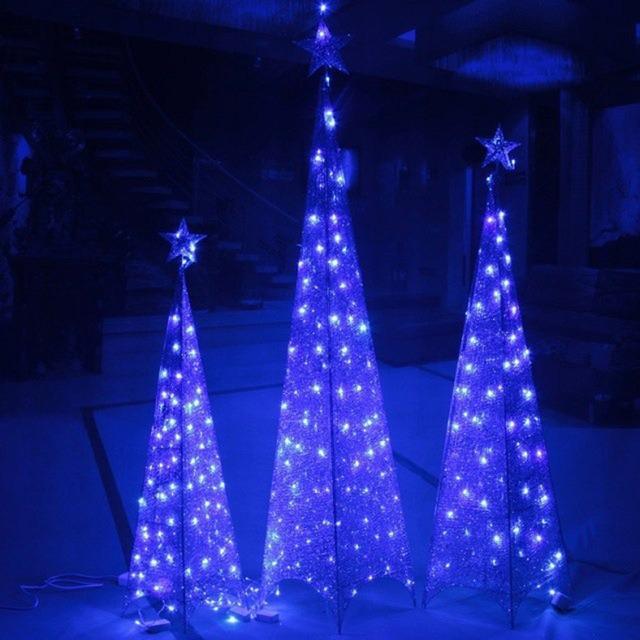 Rbol de navidad con luces led pir mide adorno s - Luces led para arbol de navidad ...