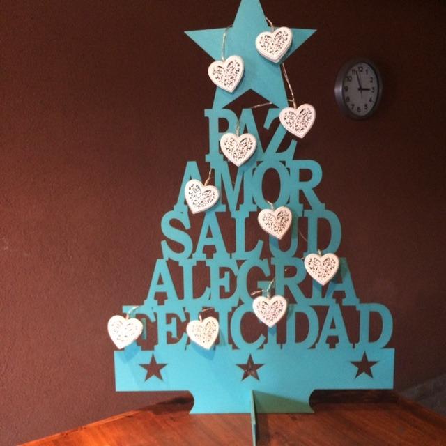 arbol de navidad arbolito navidad madera frases - Arbol De Navidad De Madera