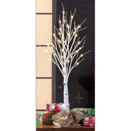 Rbol de navidad artificial blanco de luz c lida de 90 cm - Arbol artificial de navidad ...