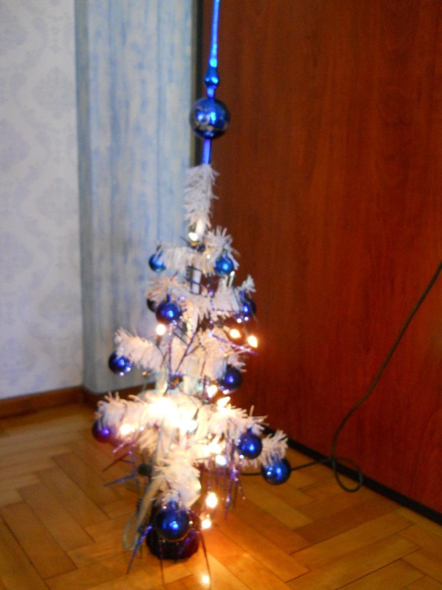 rbol de navidad blanco cm decorado con adornos y luces