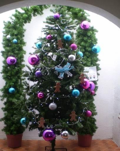 Arbol de navidad blanco y verde de altura sin decorar - Decorar arbol de navidad blanco ...