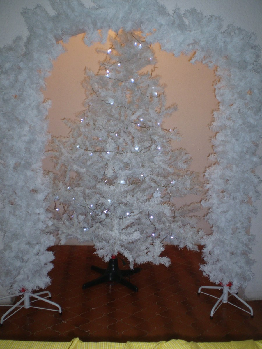 Arbol de navidad color blanco 3 en mercado libre - Arboles de navidad blanco ...