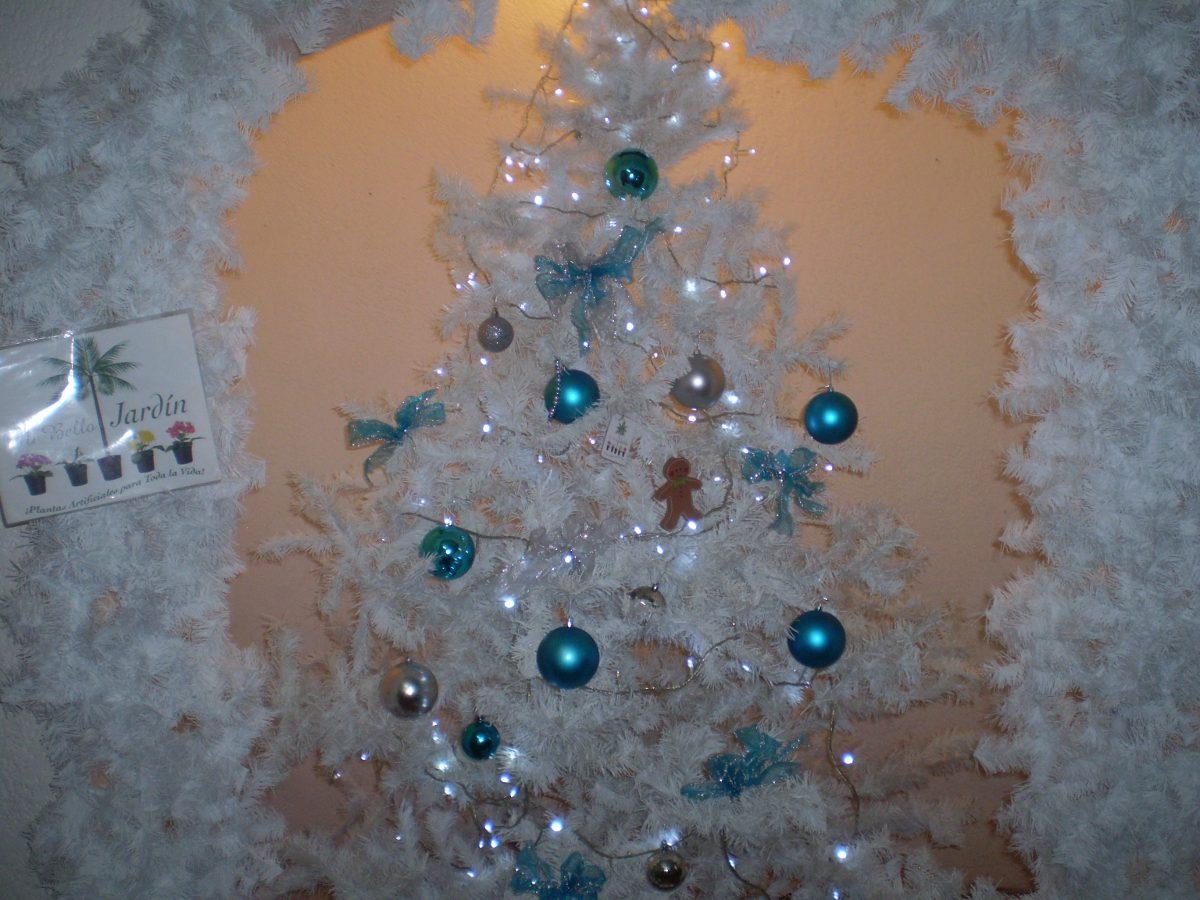 Arbol de navidad color blanco 3 en mercado libre - Decoracion para arboles de navidad blancos ...