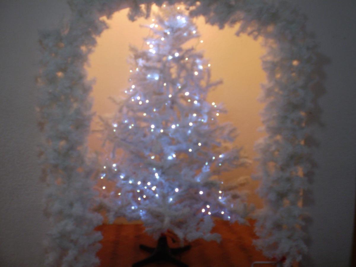 arbol de navidad color blanco