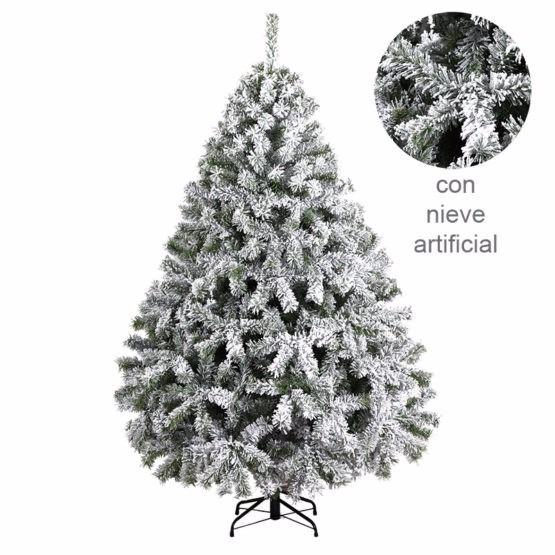 Rbol de navidad con nieve artificial pino 160cm - Arbol artificial de navidad ...