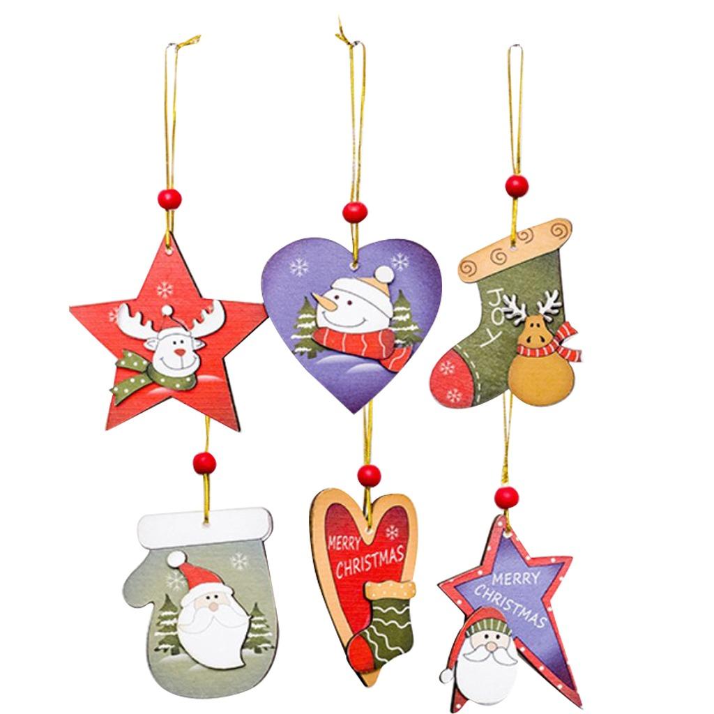 Árbol De Navidad Cuentas Rojas Colgante Madera 6 Modelos ...