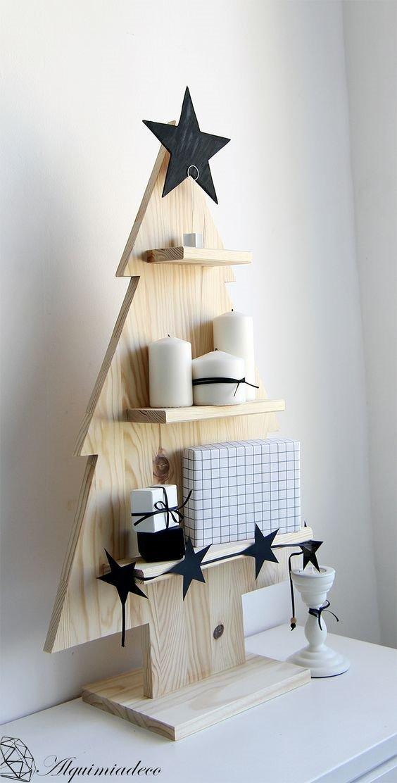 f3e8f4a2aef Arbol De Navidad De Madera Solida Con Repisas Mod Star -   1