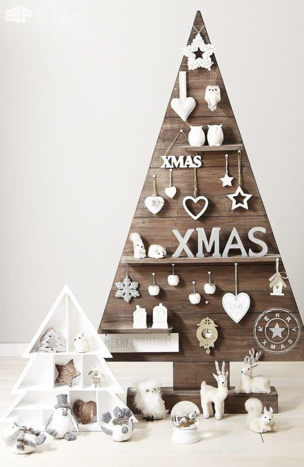 50f46477353 Arbol De Navidad De Madera Solida Rustico Con Repisas Mod V ...