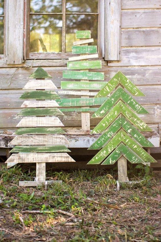 76367d3551d arbol de navidad de madera solida rustico vintage set 3 pzas. Cargando zoom.