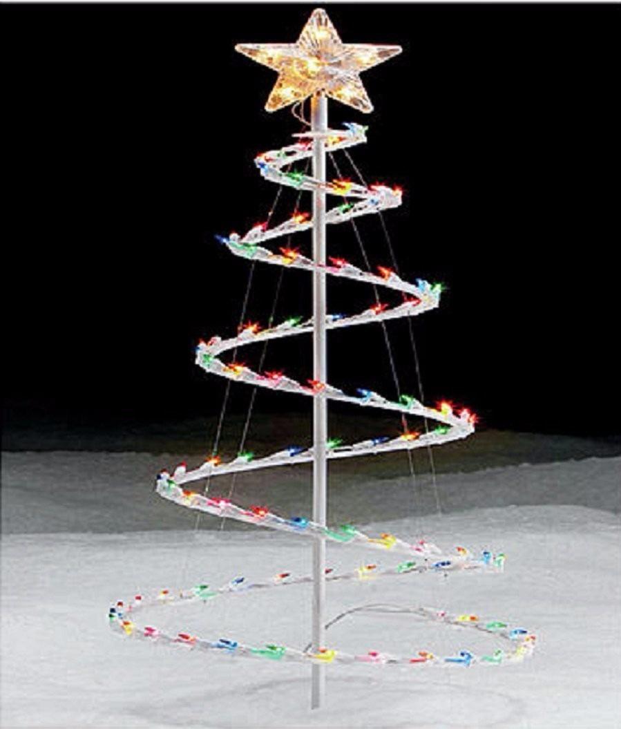 Arbol de navidad en espiral 3 5 pies 100 luces multicolores en mercado libre - Luces arbol de navidad ...