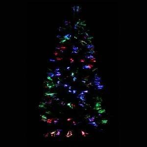 arbol de navidad fibra optica 1.80 m multicolor + proyector
