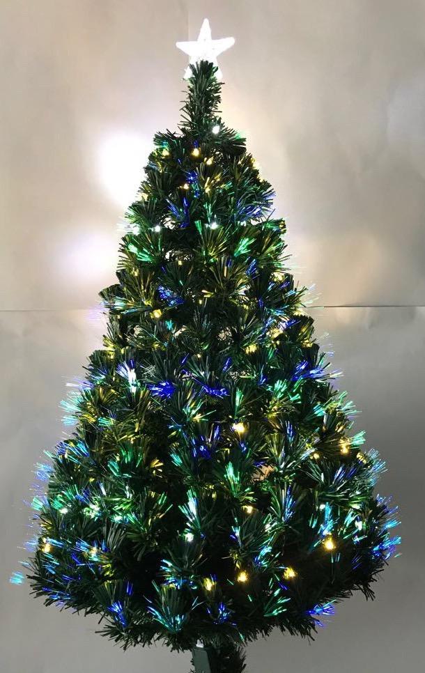 d5f455c4d5d7e Arbol De Navidad Fibra Optica Luz Cálida Y Blanca