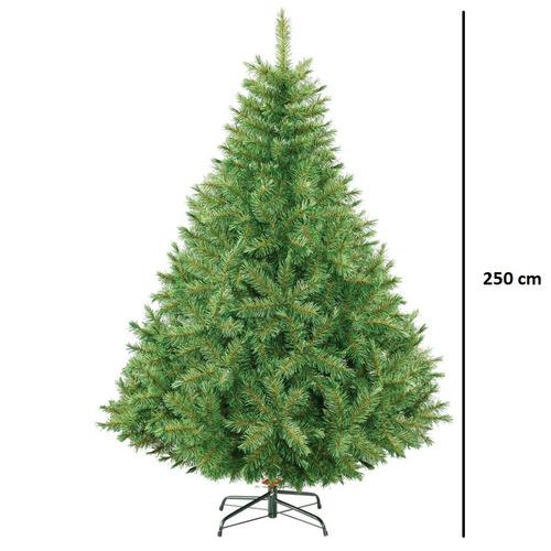 arbol de navidad frondoso pino bavaro 2.5m naviplastic verde