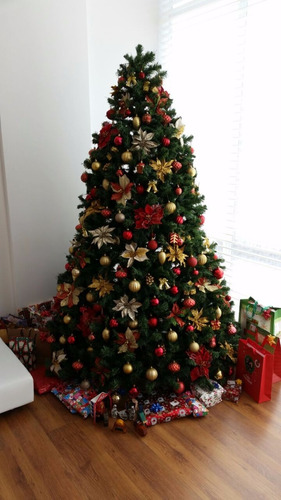 arbol de navidad importado 2.2mts full decoracion!!!