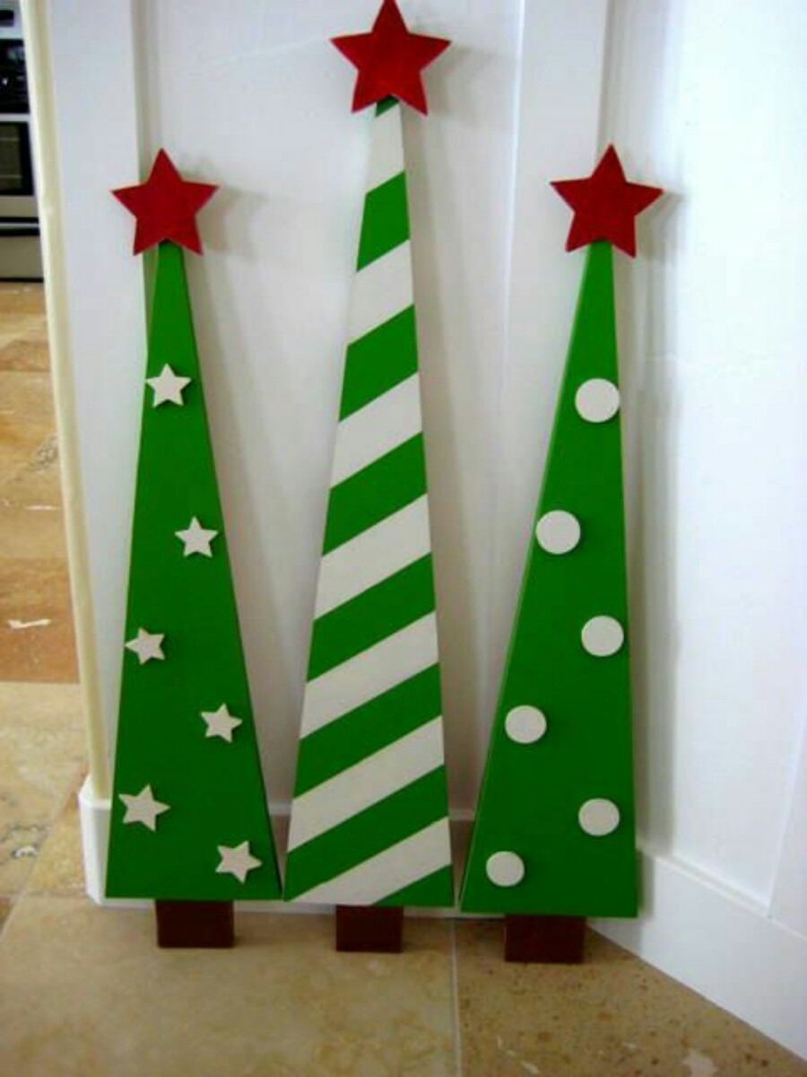 Arbol De Navidad Madera Reciclada Patinado Tendencia 70000 en