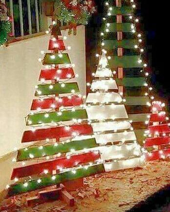 arbol de navidad madera reciclada patinado tendencia - Arbol De Navidad De Madera