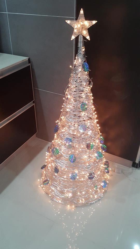 arbol de navidad moderno m de alto luces incluidas