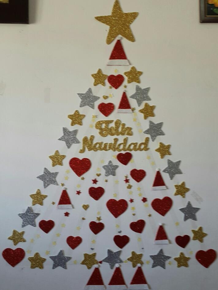 Como poner arbol de navidad en la pared