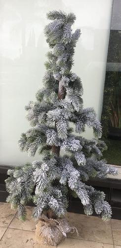 arbol de navidad pino nevado follaje plantas navideo