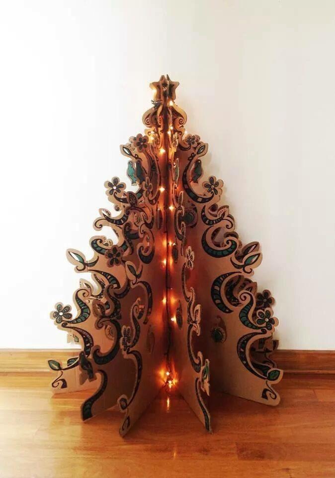 rbol de navidad plegable en cartn cargando zoom - Arbol De Navidad De Carton