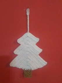 Decoracion En Crochet De Arboles Columnas Etc Adornos