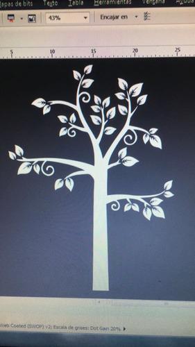 árbol de vinilo decorativo para pared - 1 metro de alto