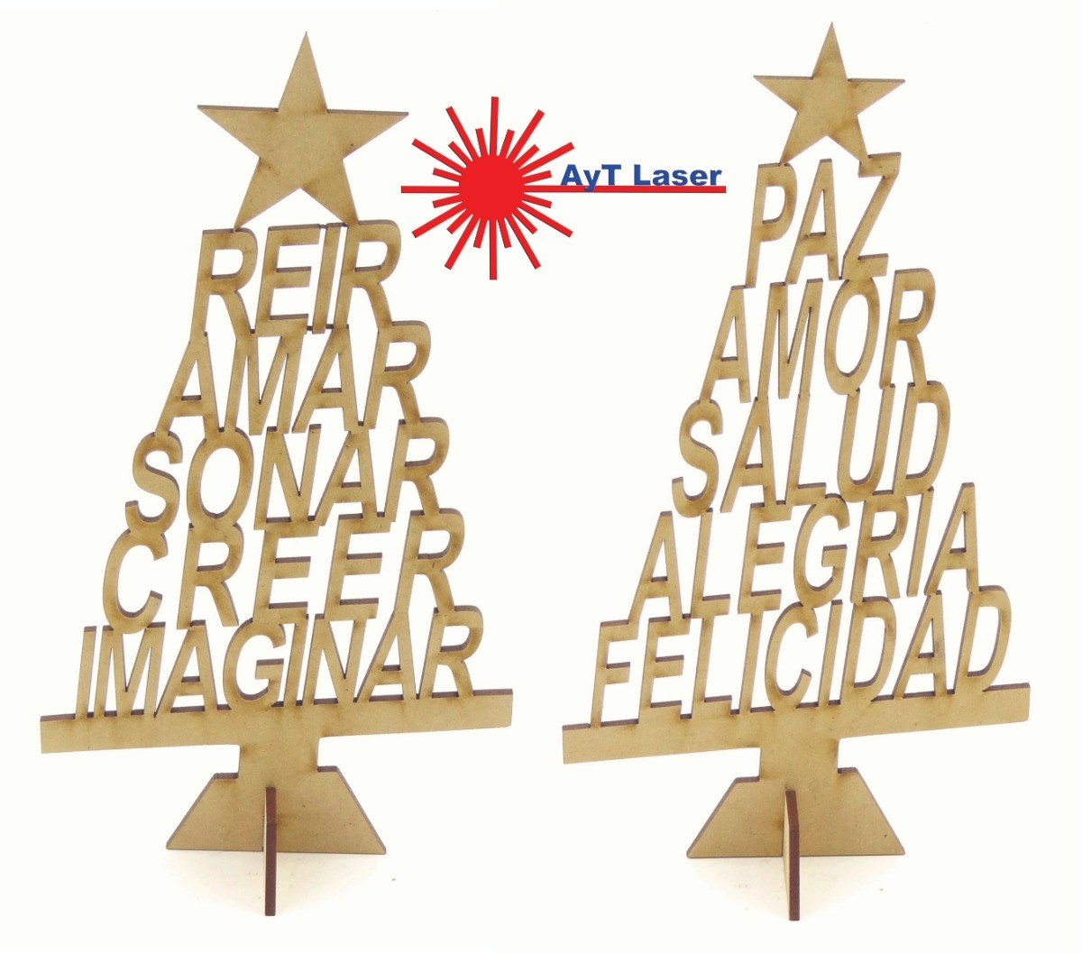 Arbol Deseos Navidad 25cm X20u Fibrofacil Arbolito Navideño 440