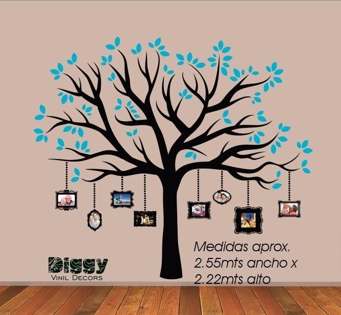 Árbol genealógico vinil decorativo con marcos para fotos 795 00