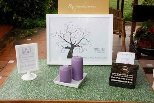 árbol huellas boda bautizo gratis cojin+instructivo+toallas