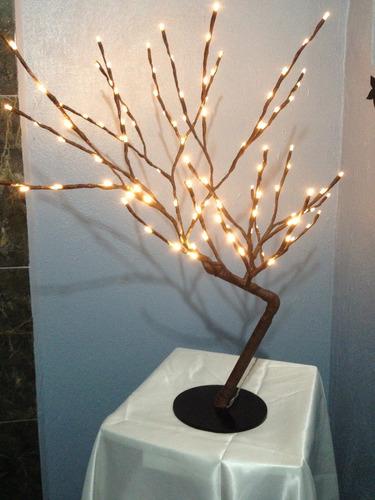 arbol led centro de mesa 65cm 90 leds varios colores