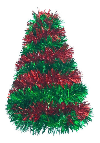 árbol mesa navidad metalizado 20 cm #348