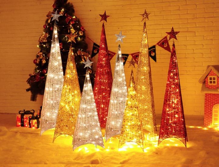 a70bb9b68b38a Árbol Navidad 1.50m Pirámide Luces Led + Estrella