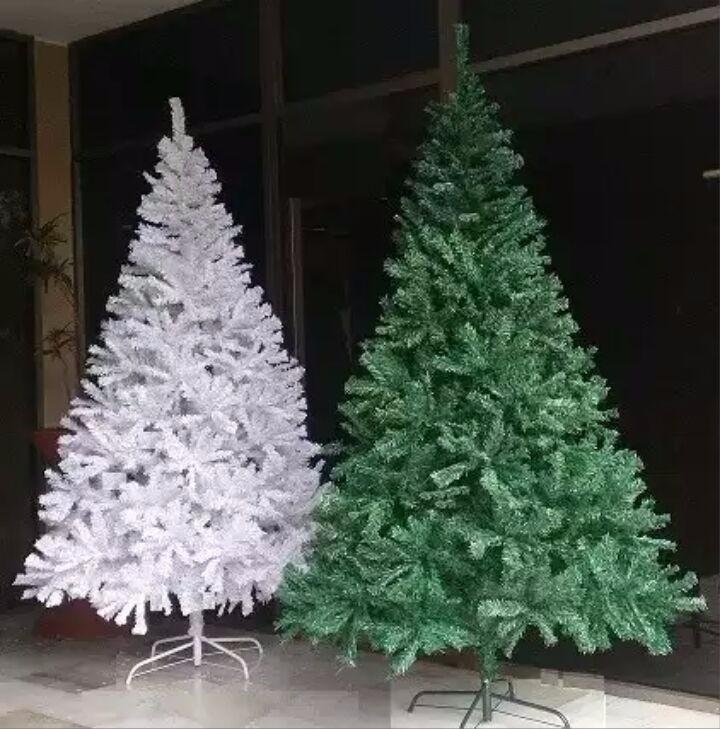 Arbol Navidad 210cm 1400ramas Verde Blanco Adornos Navideos US