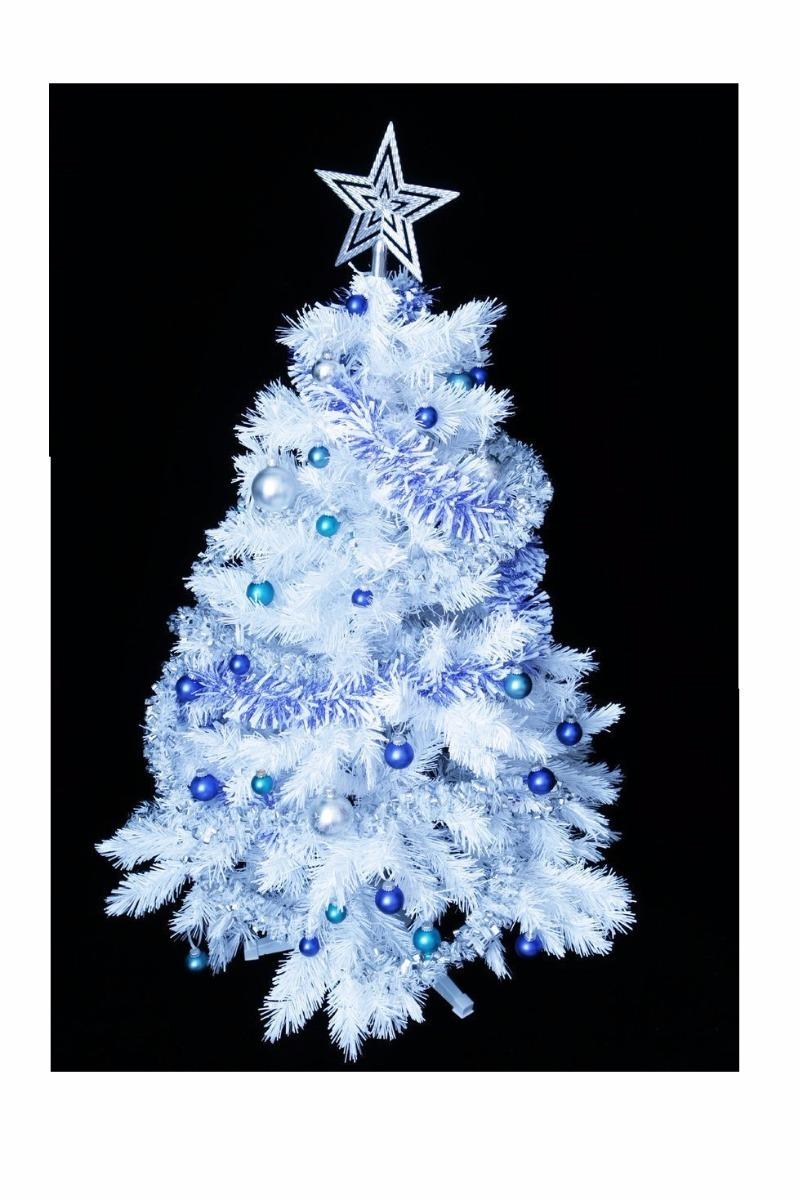 Rbol navidad blanco cm luces decoracion 279 - Arboles de navidad blanco ...