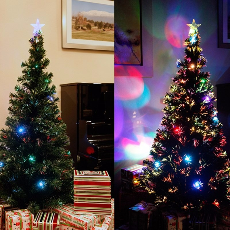 Rbol navidad blanco fibra ptica y led metros - Arbol navidad led ...