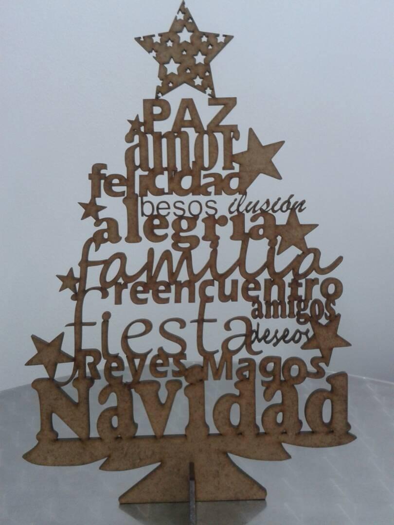 Arbol navidad de los deseos 30 cm en madera mdf laser bs 0 83 en mercado libre - Arboles de navidad de madera ...