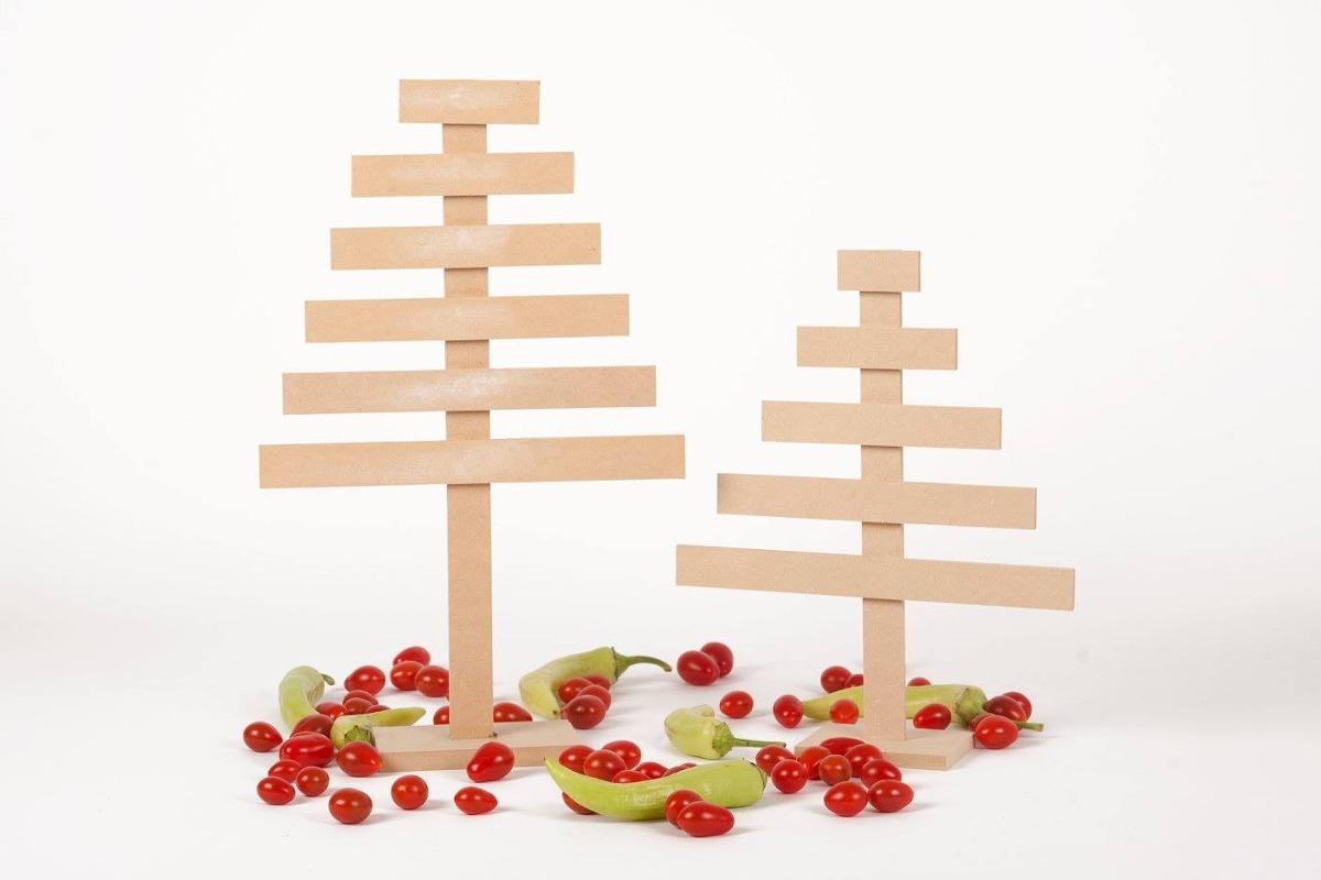 Arbol navidad madera oulii rbol de navidad de madera bricolaje dibujos animados navidad - Arboles de navidad de madera ...
