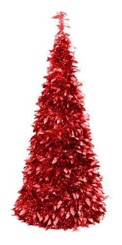 arbol navidad espiral 1,80 mts plegable c/ efecto metalizado