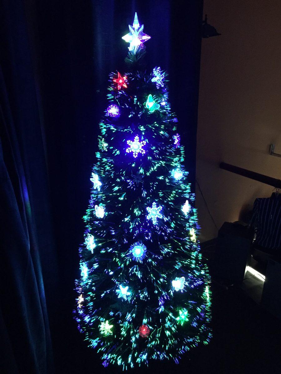 Arbol navidad fibra optica led y decoracion e - Arbol navidad led ...