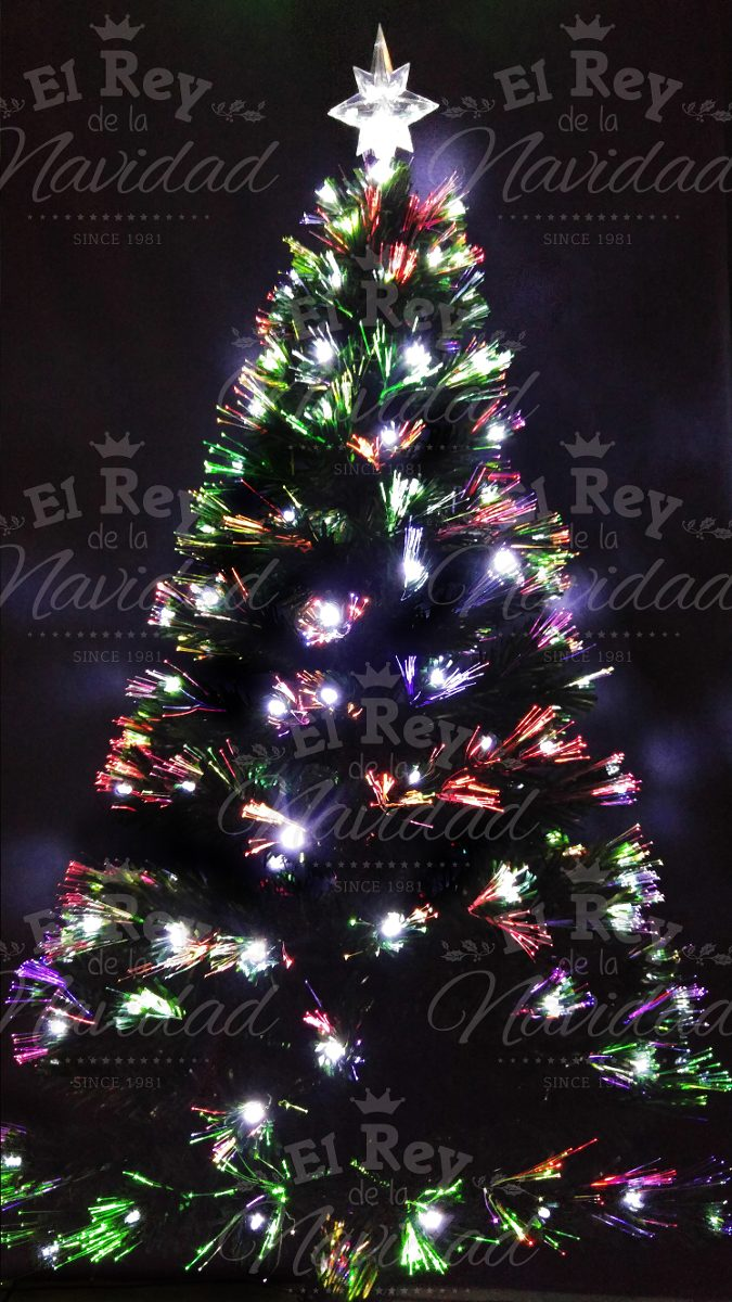 fc689a45a6958 Arbol Navidad Fibra Optica Luz Led Multidestellos 1