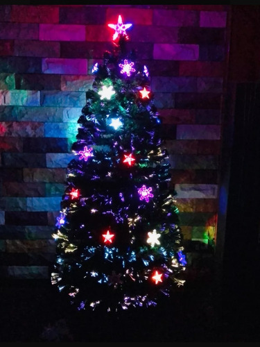 arbol navidad fibra optica y led 1.85m multicolor