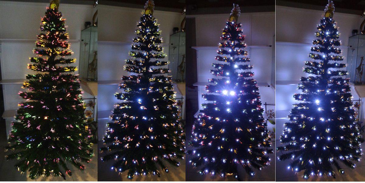 Arbol navidad fibra ptica y led mtrs en - Arbol navidad led ...