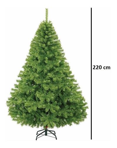 arbol navidad frondoso lujo naviplastic pino canadiense 2.2m