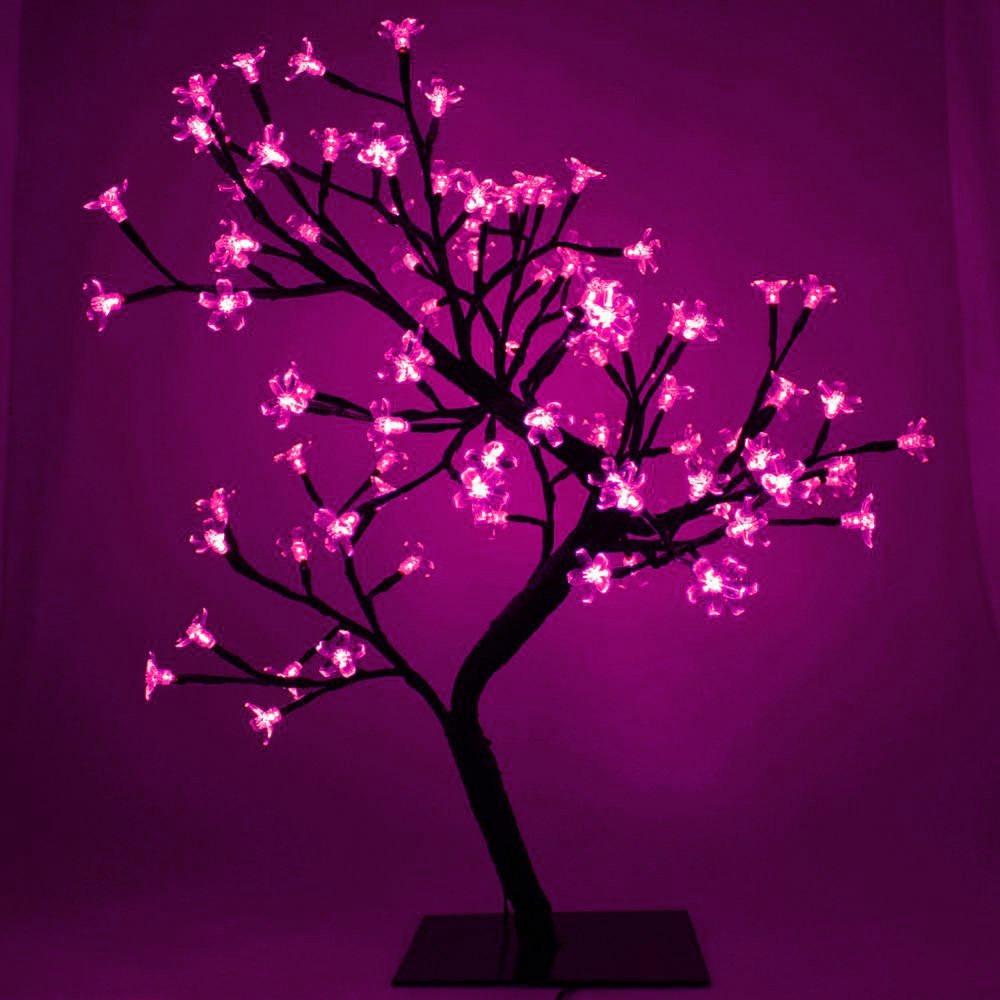 Arboles de navidad rosa arbol con luces de led multicolor - Arbol navidad led ...