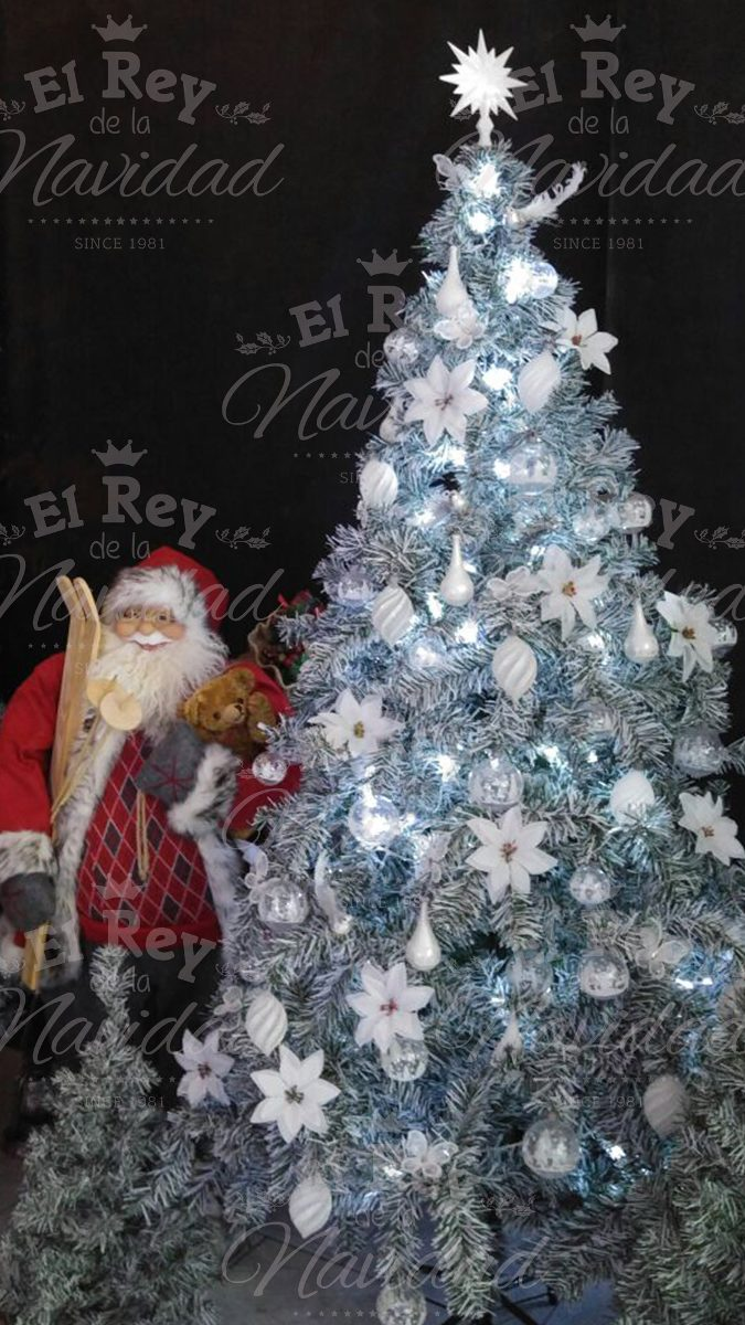 Arbol Navidad Luminoso Fibra Optica Luz Led Blanca 180 Mts